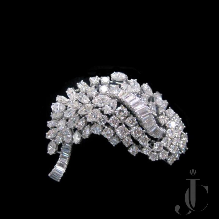 Platinum Diamonds Brooch, Van Cleef and Arpels, circa 1955