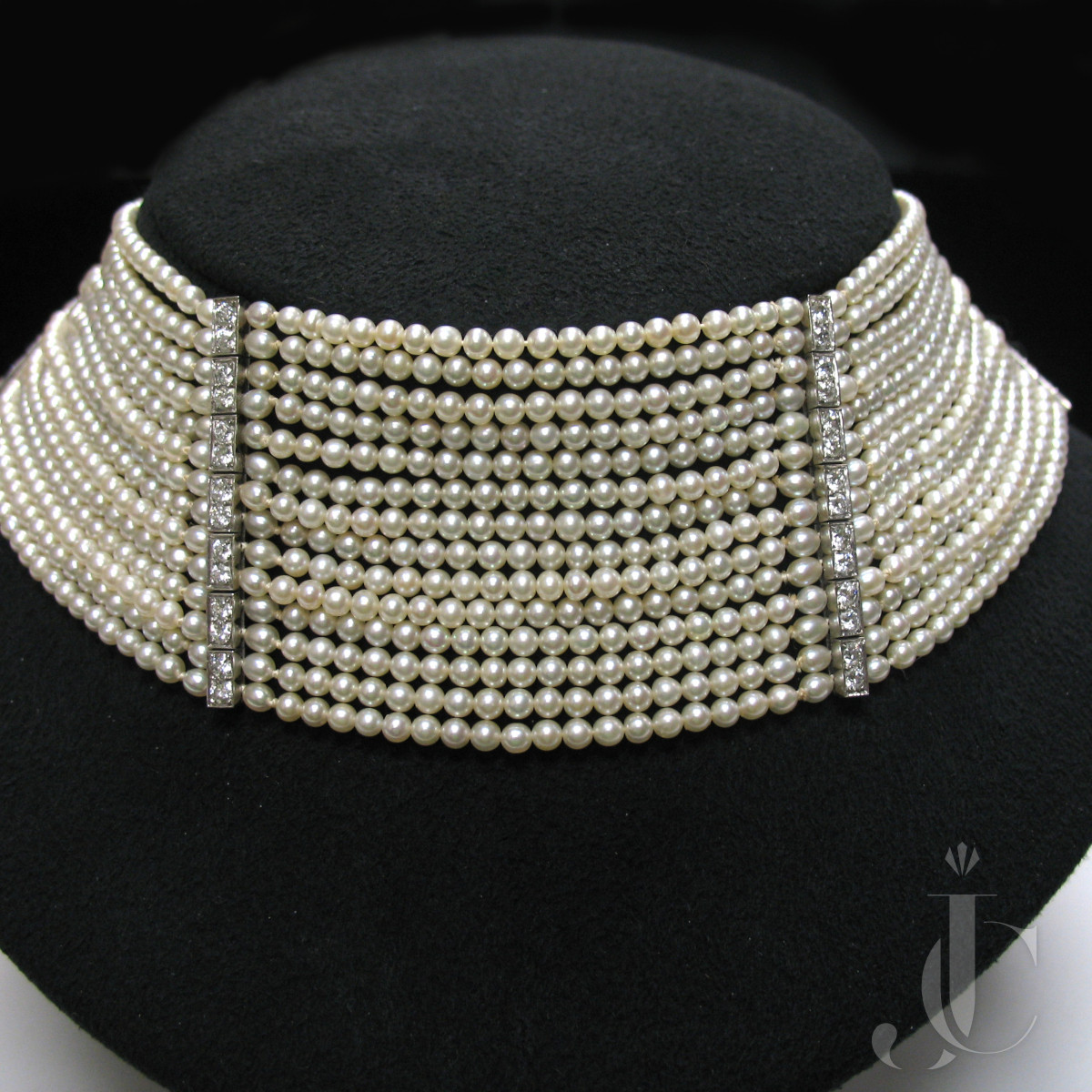 Platinum Natural Pearl and Diamond Necklace, Tiffany & Co. circa 1925 Formerly the property of Mrs. Horace Dodge - Auto Manufacturer