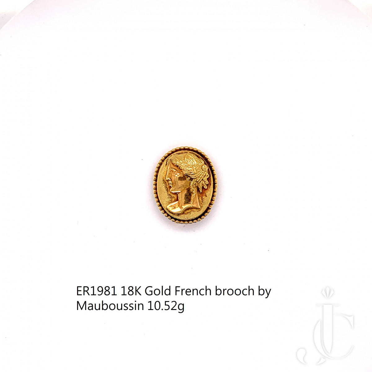 18K Gold French brooch by Mauboussin