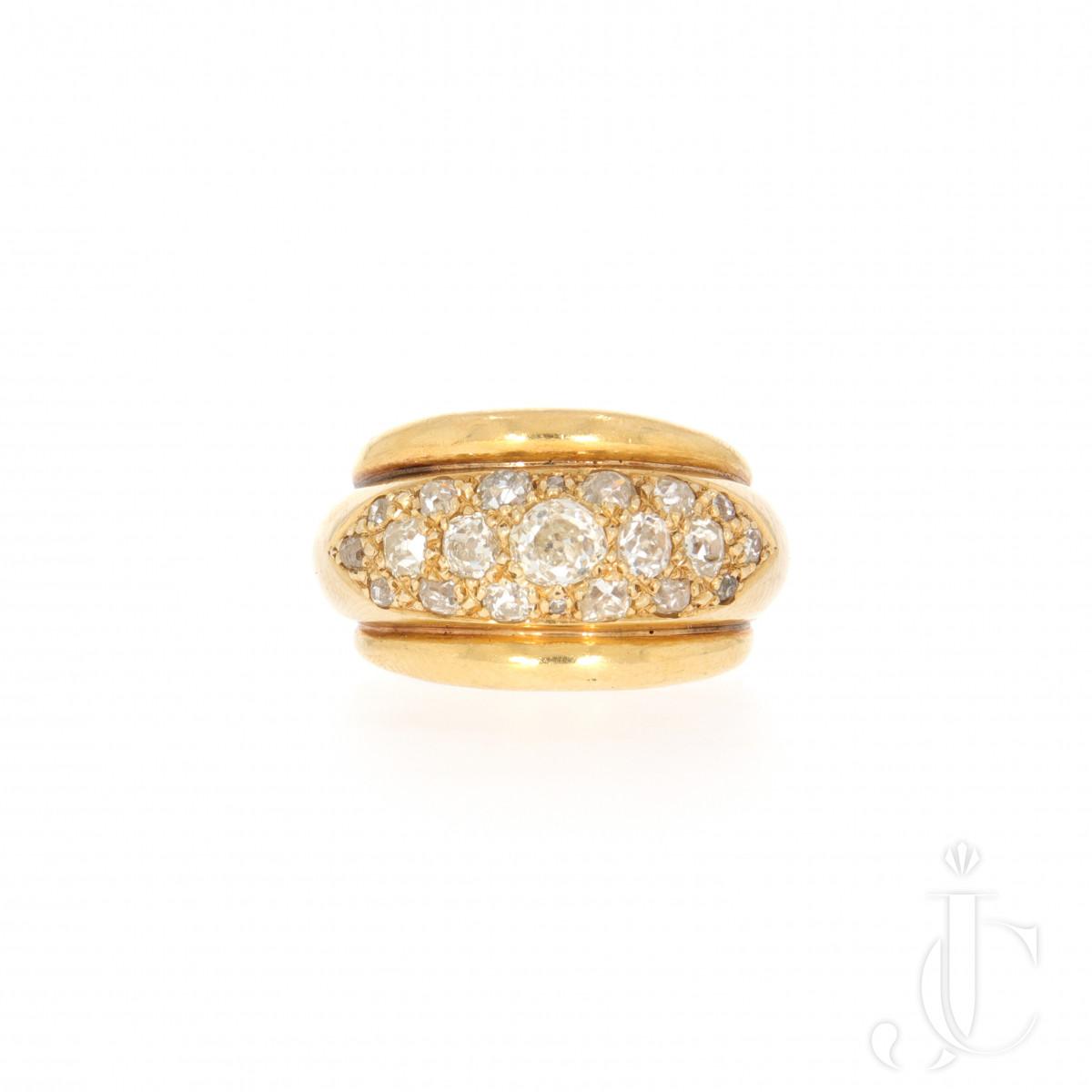 Rene Boivin Diamond Gold Ring