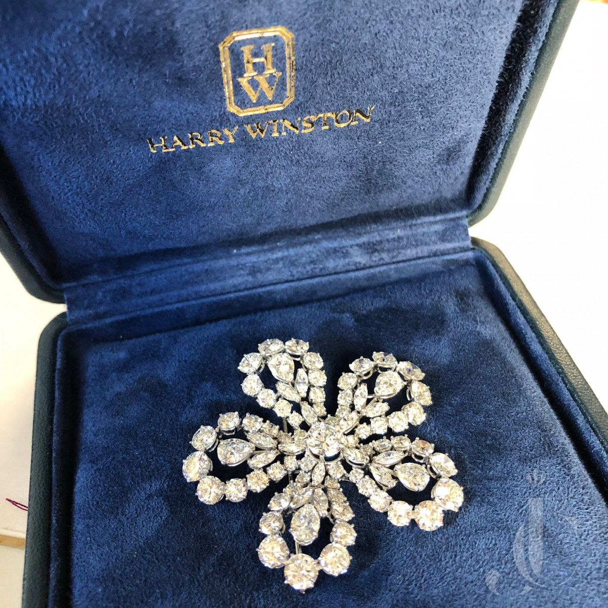 Platinum Diamonds Brooch, Harry Winston, circa 1952 See Letter attached