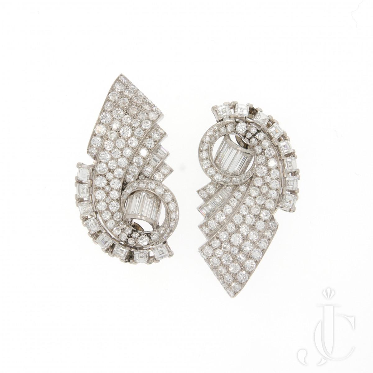 2 Diamond Dress Clips