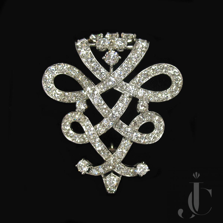 Platinum Diamonds Brooch, Cartier