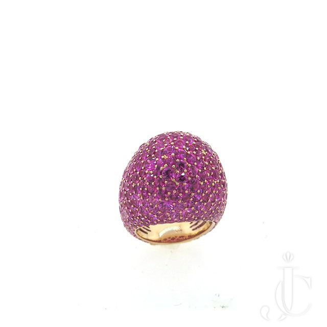 PINK SAPPHIRE DOME RING