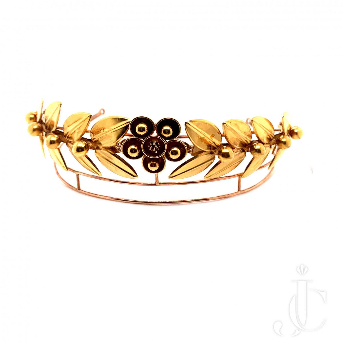 18k Gold Tiara by Castellani
