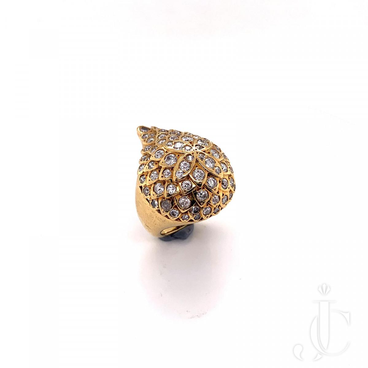 An 18k gold diamond ring by Belperron
