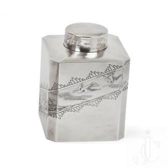 Set of Silver Tea Caddy by Keller Paris