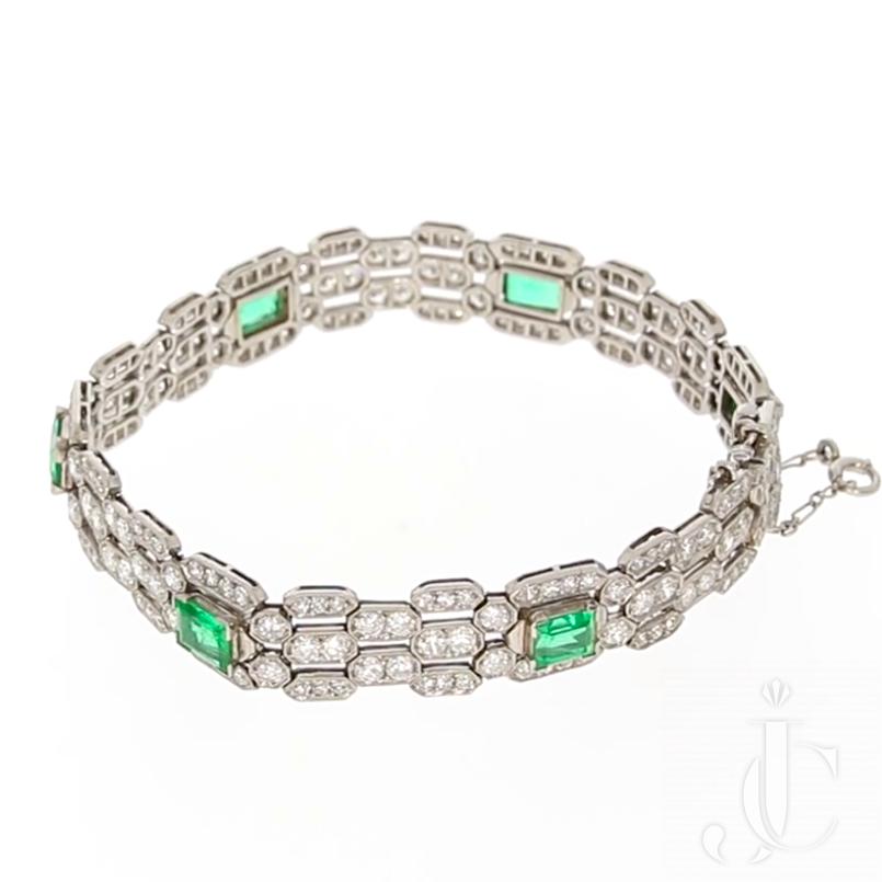 Marzo Diamond Emerald Bracelet