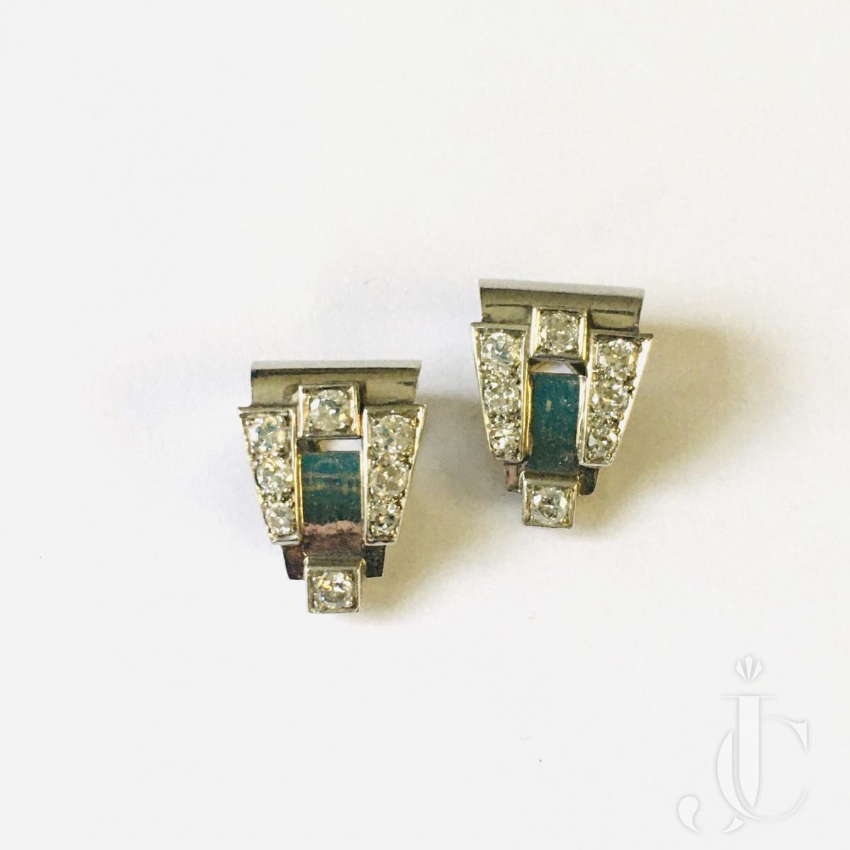 Art Deco Diamond Ear clips