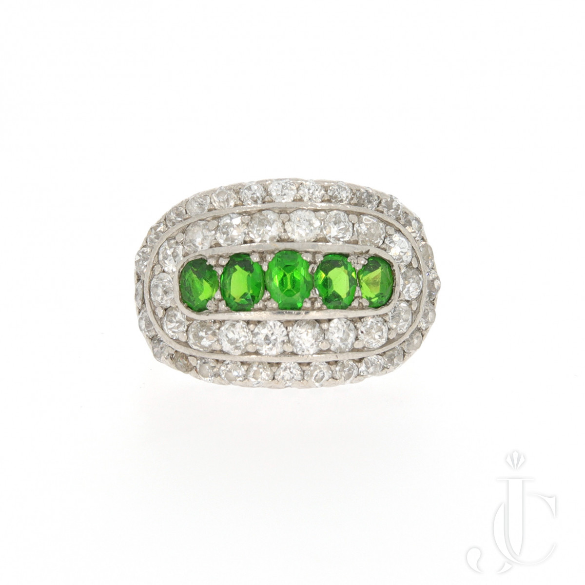 Demantoid Diamond Ring
