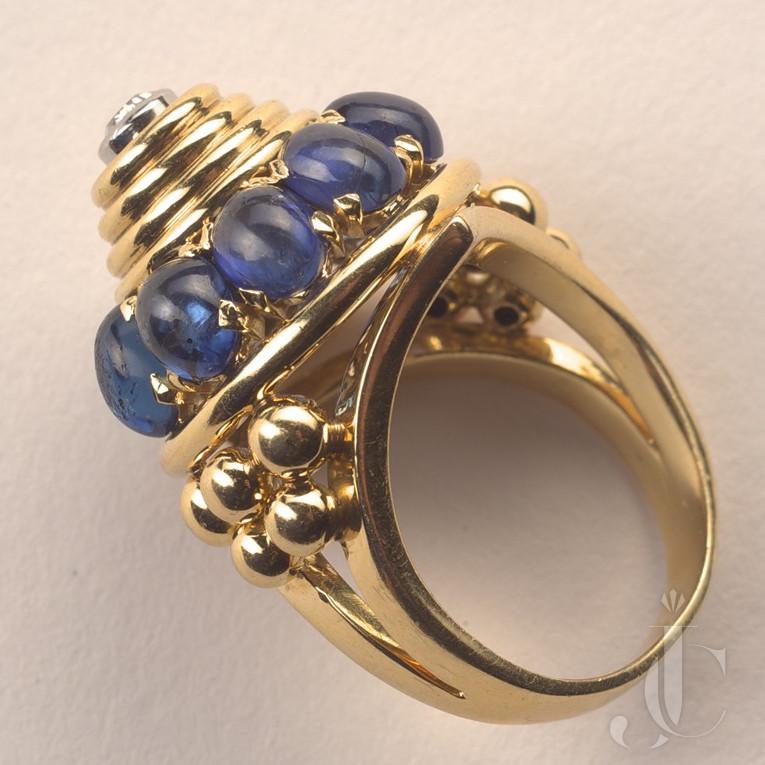 Marchak sapphire and diamond dress ring