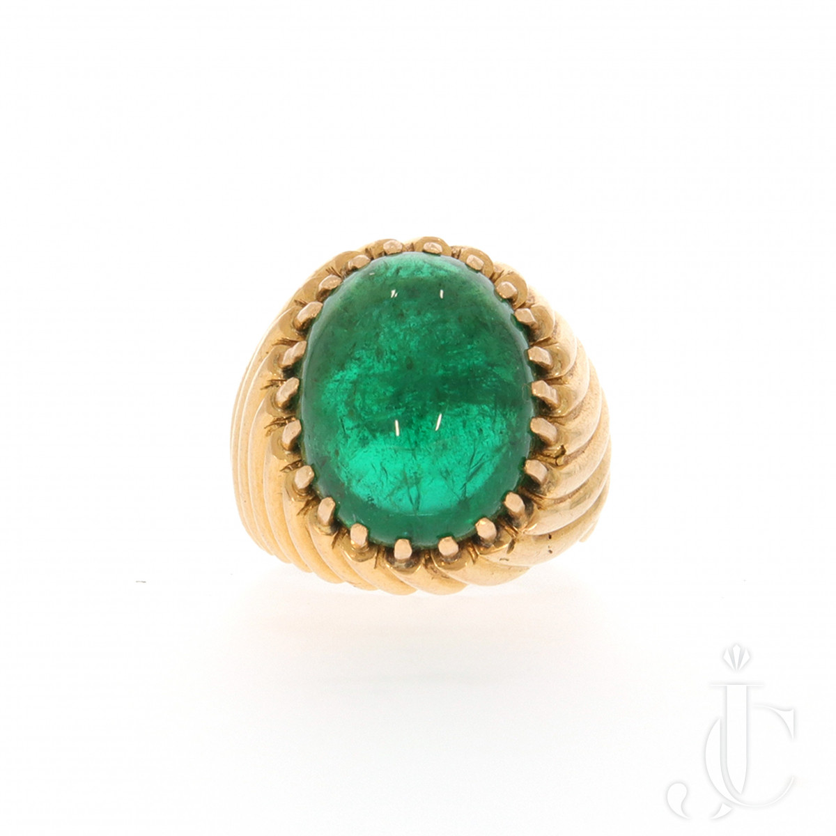 Retro Emerald Ring