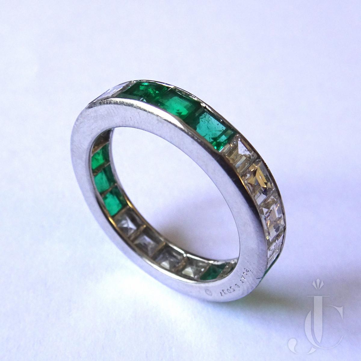 Oscar Heyman Diamond Emerald Ring
