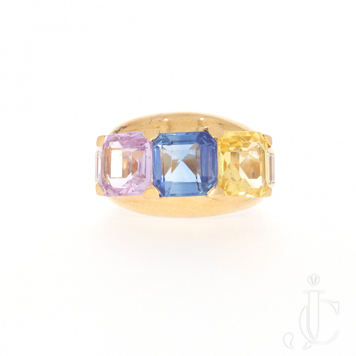 Schilling 3 Stone Sapphire Ring