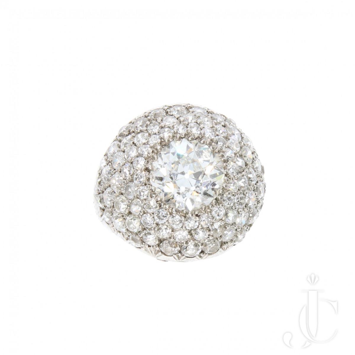 Diamond Bombé Ring