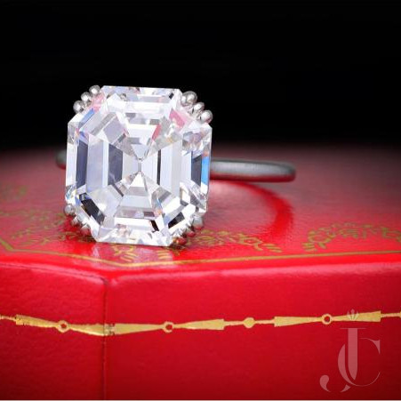 Cartier Paris Asscher Cut Diamond Ring