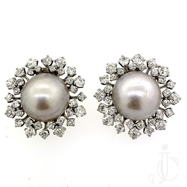 VCA Mabe Pearl Earrings