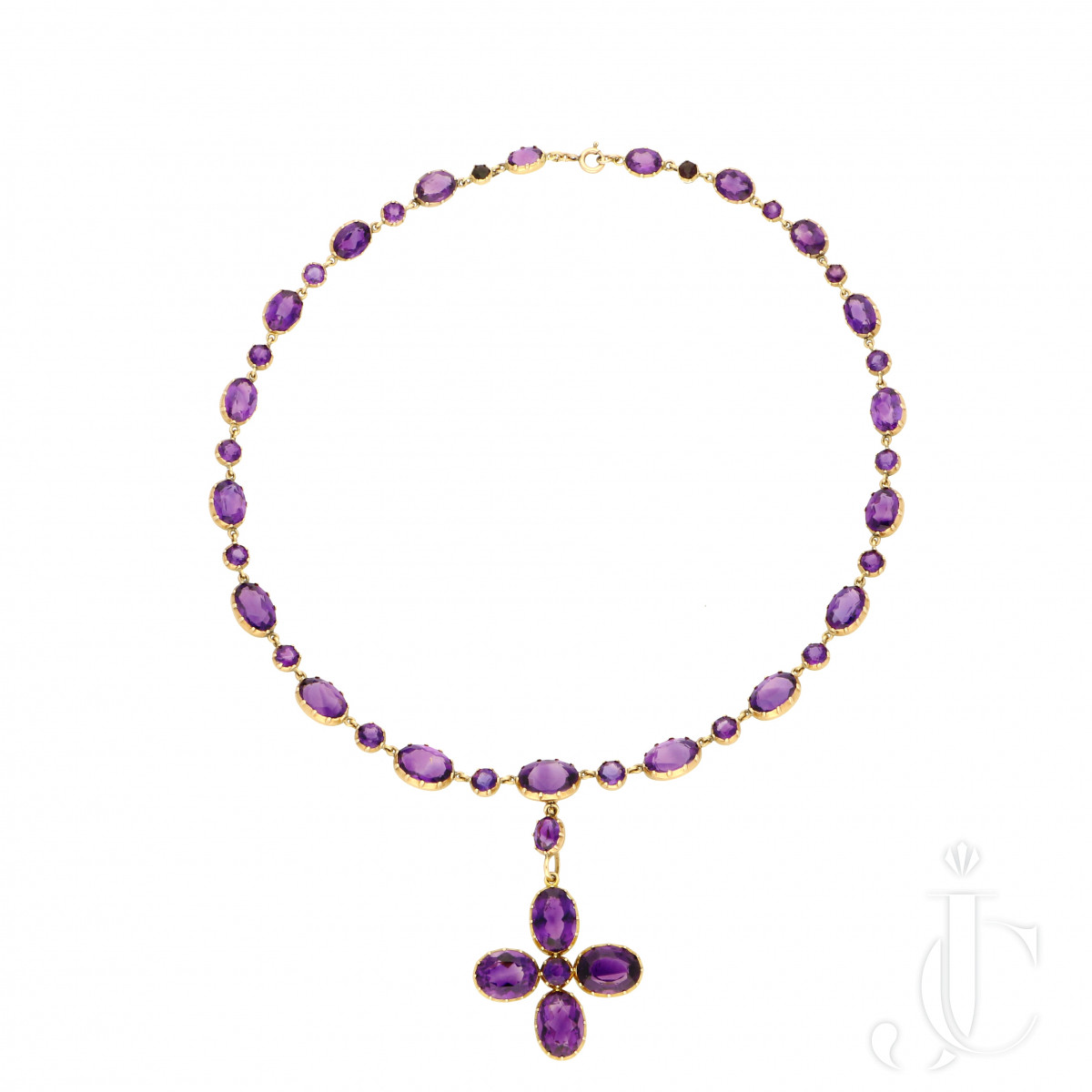Victorian - Amethyst 18ct Gold Necklace c.1880
