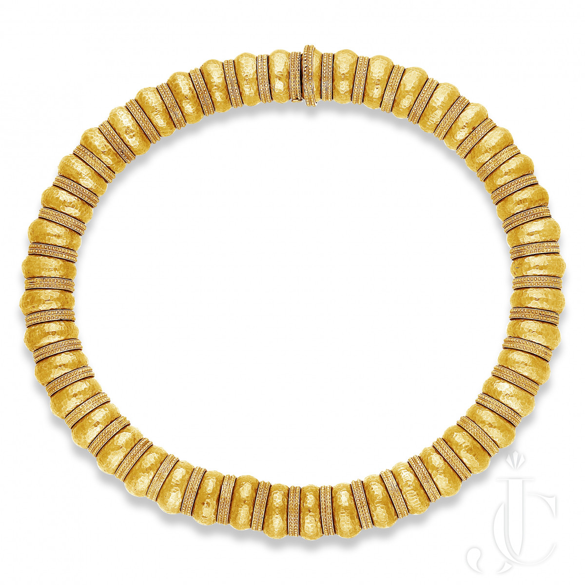 Lalaounis- Really Bold 22k yg 240grms Bead Necklace from