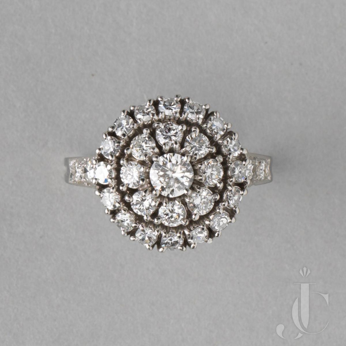 Platinum and diamond 1950s Tiffany Ring