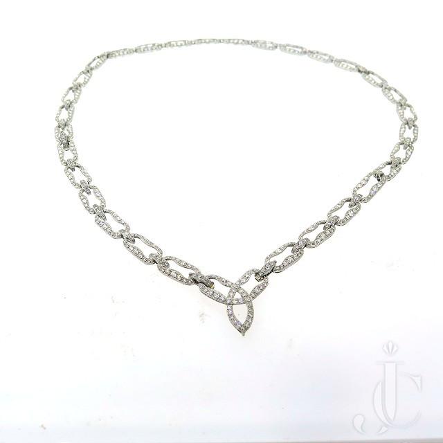 Deco Platinum Diamond Sautoir