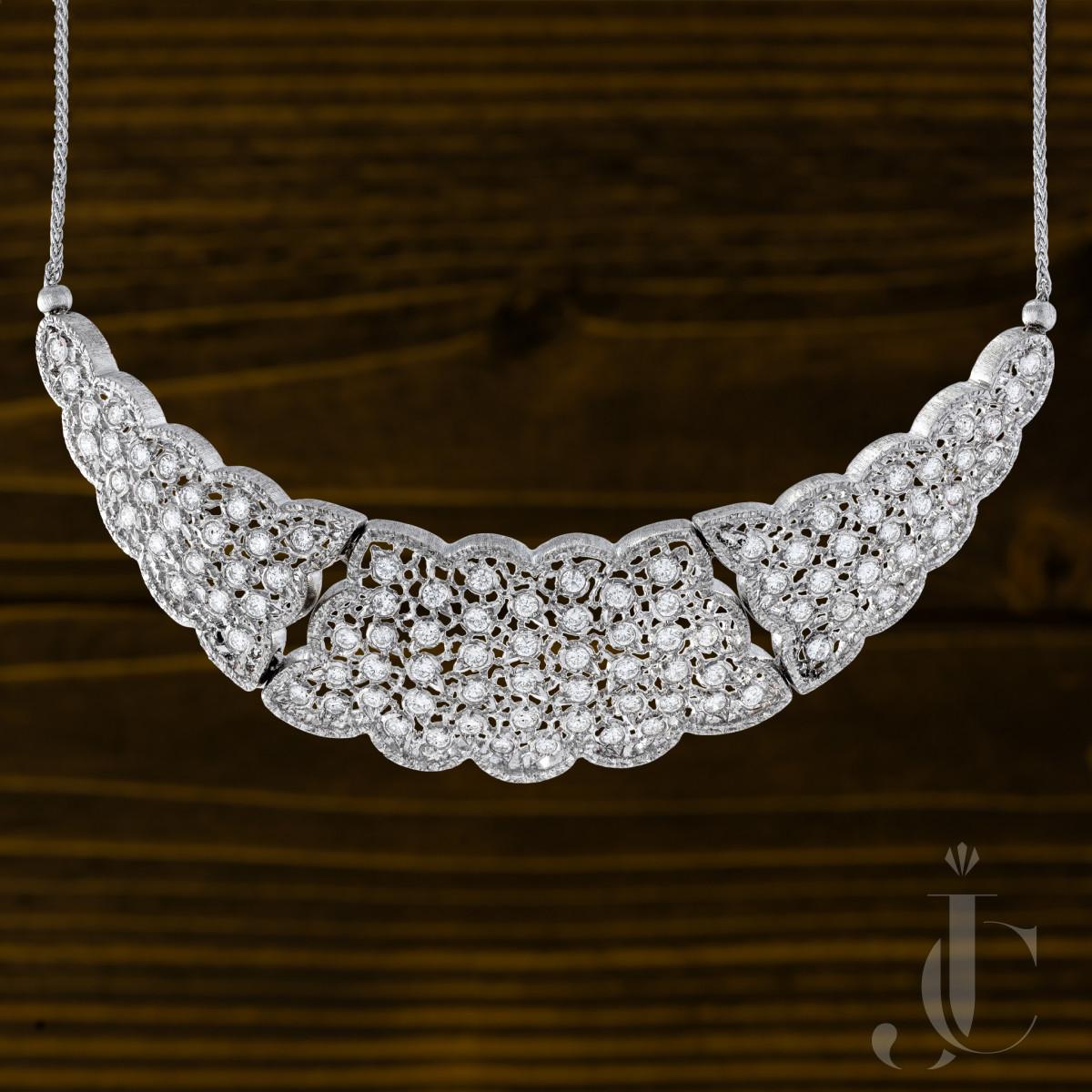 M Buccellati Diamond Necklace, Italy