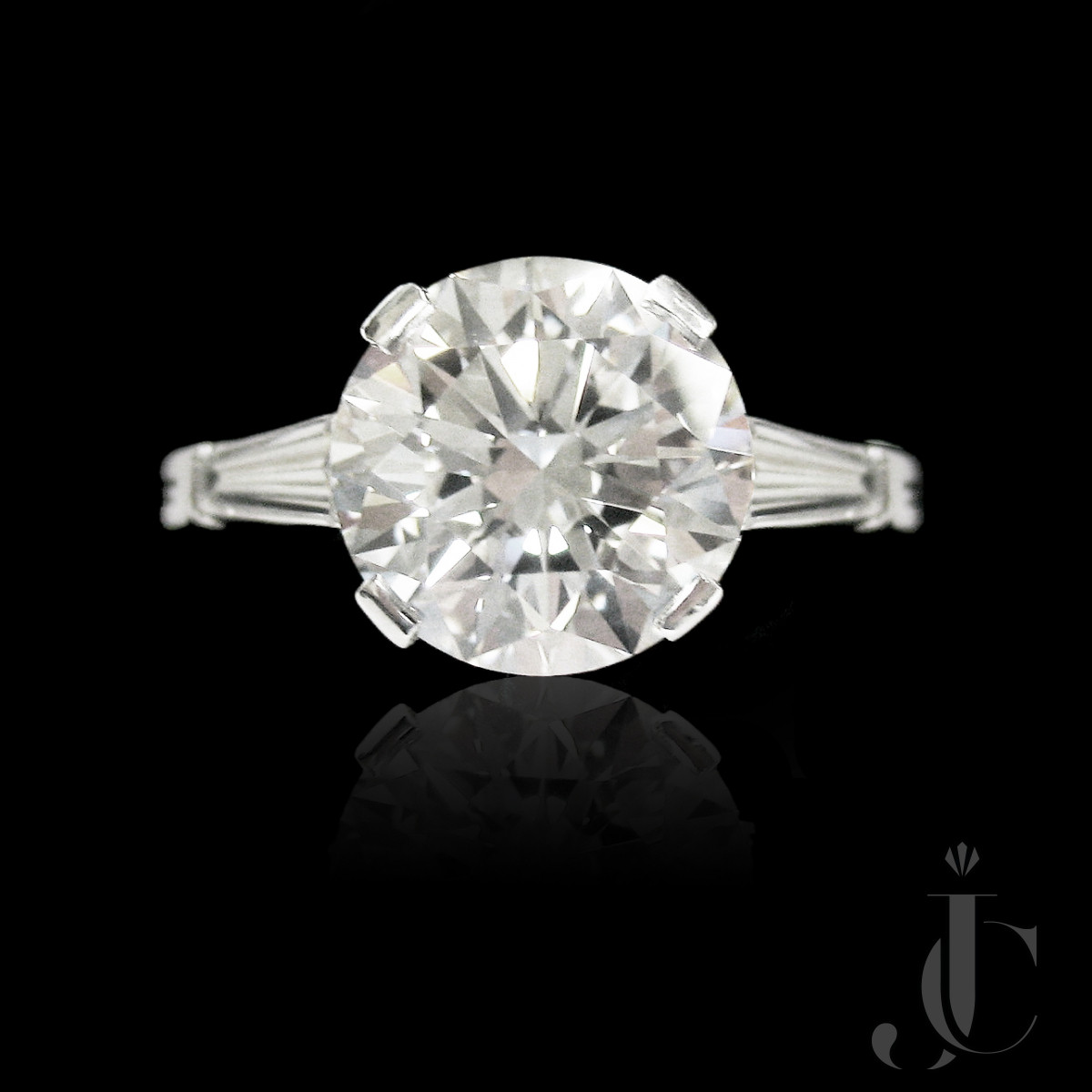 Platinum Diamond Ring, Tiffany & Co, circa 1965 - Triple EX