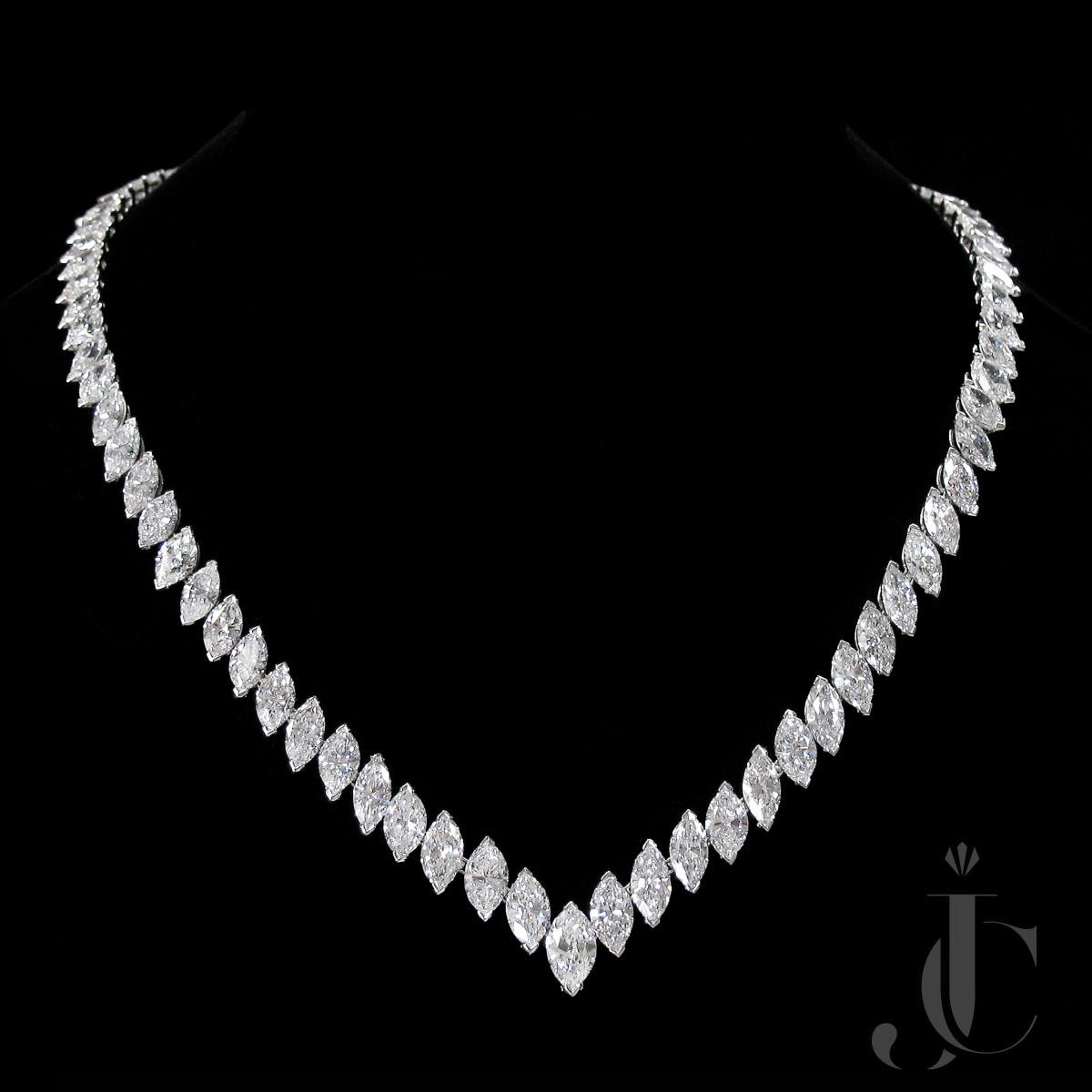 Platinum Marquise Diamonds Necklace, Van Cleef & Arpels