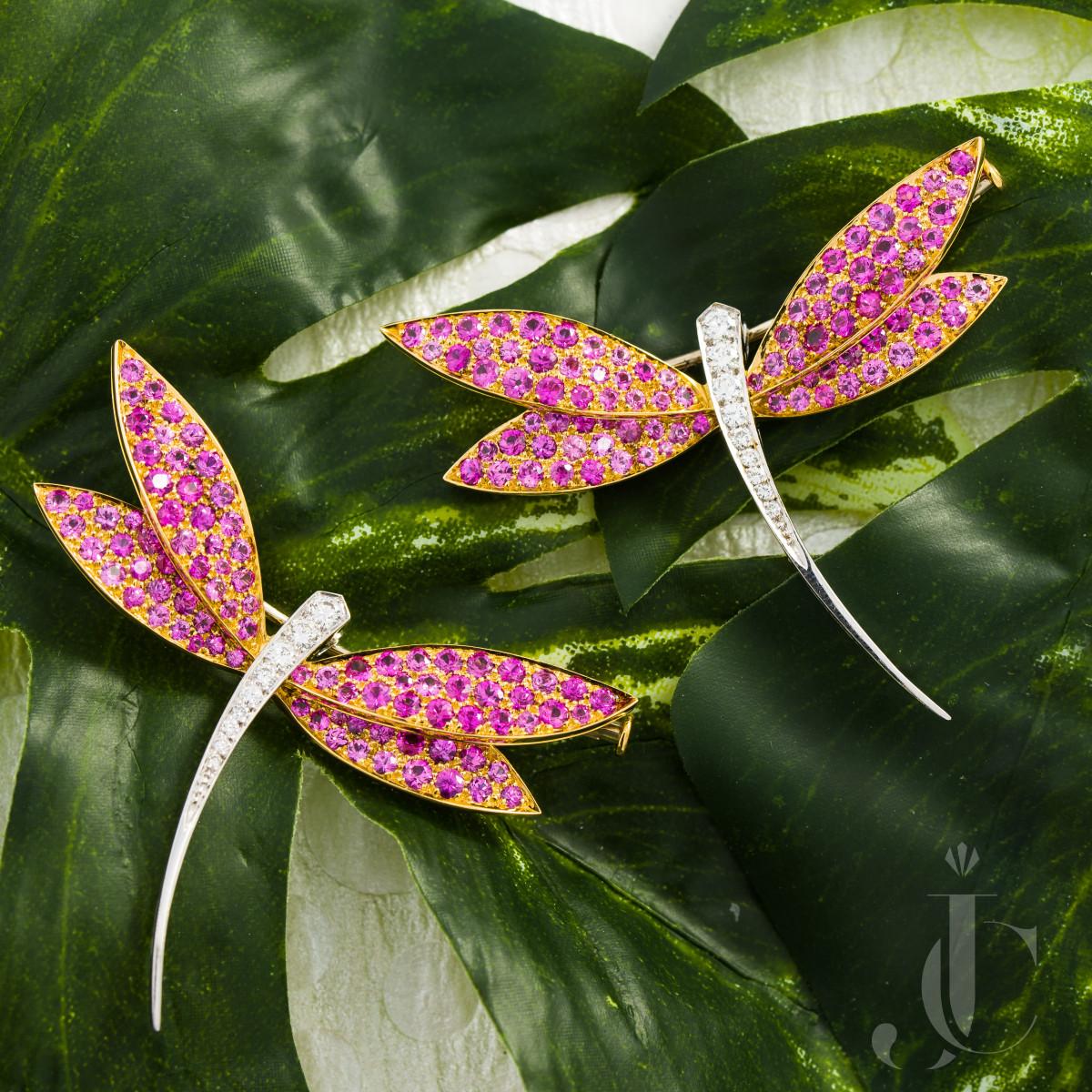 Pair of Van Cleef & Arpels Dragonfly Brooches
