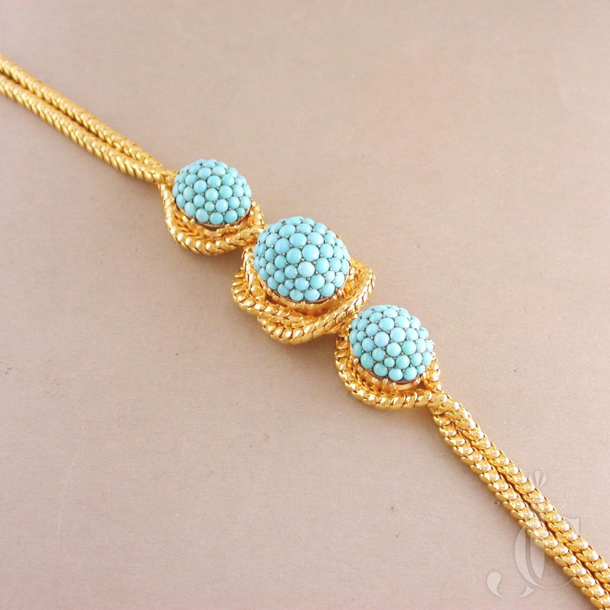 Victorian 18kt Turquoise Bracelet