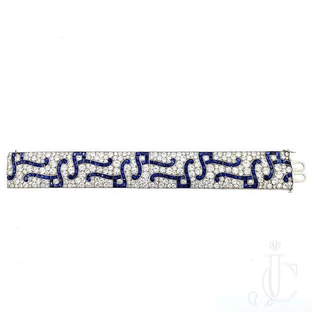 Exceptional Art Deco Sapphire  Diamond Bracelet