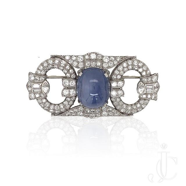 Deco Star Sapphire Pin