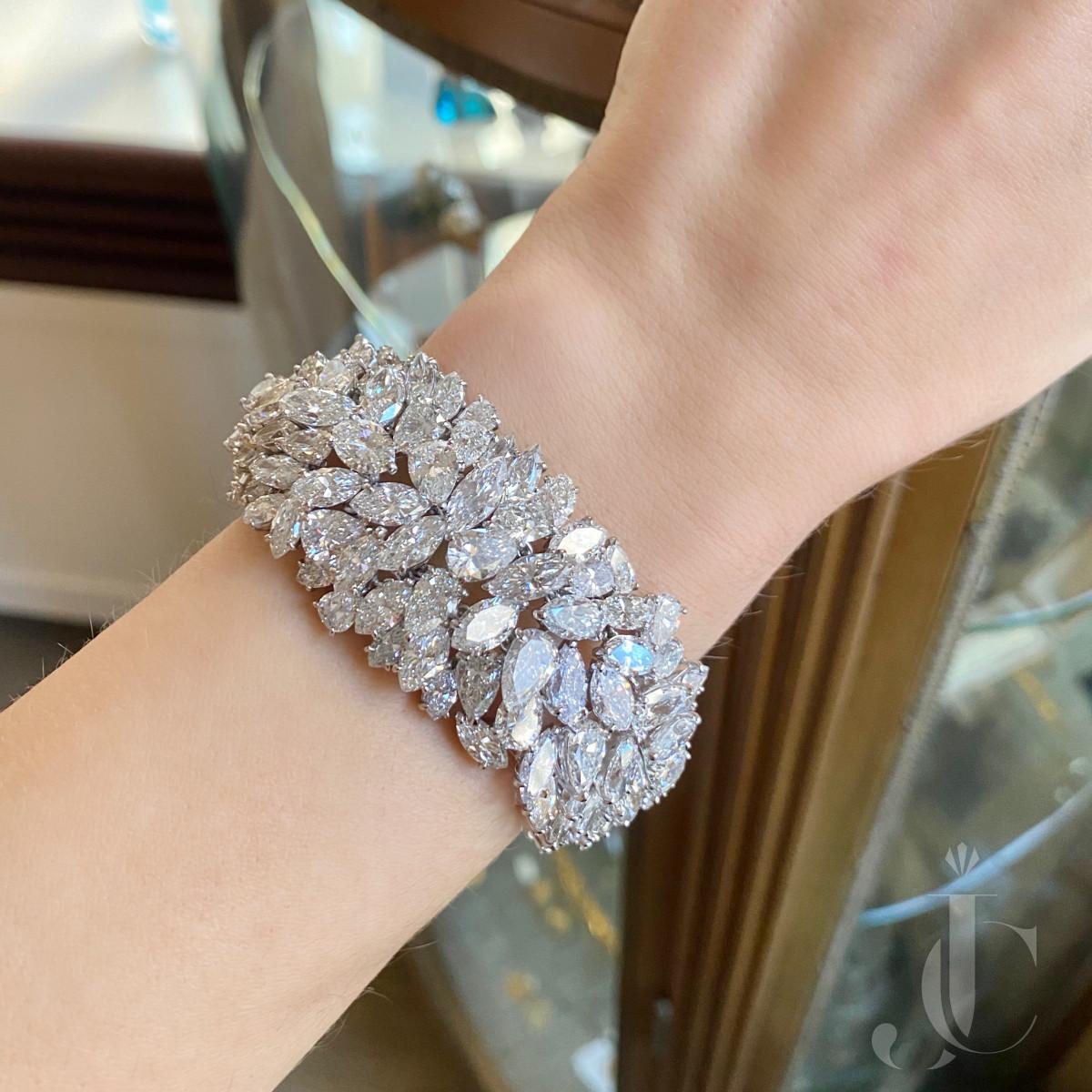Platinum Fancy Diamond Bracelet