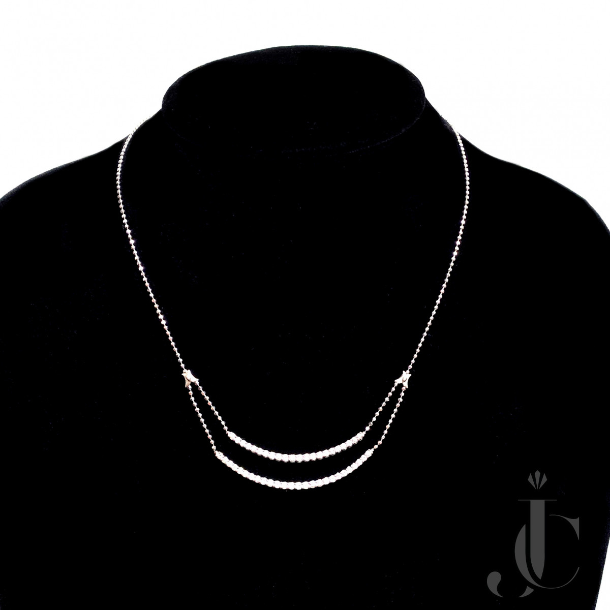 Platinum 950 Necklace Set with 1.50 Carat Natural White Diamond Daily Wear
