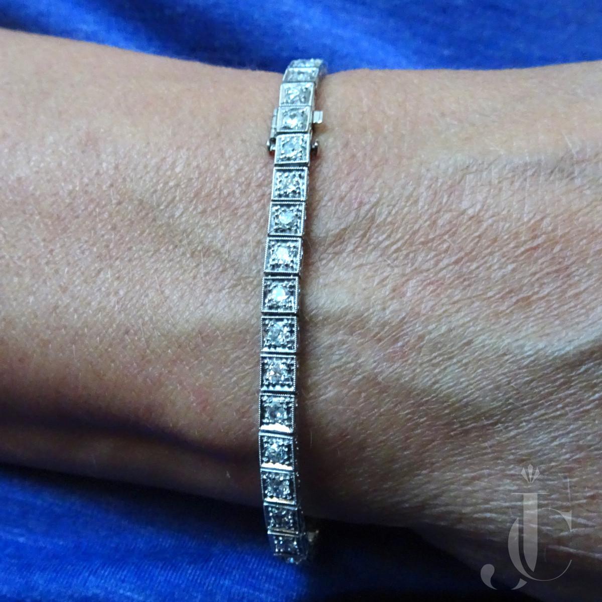 Art Deco Diamond Line bracelet