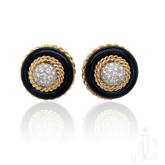 VCA Onyx Dia Earrings