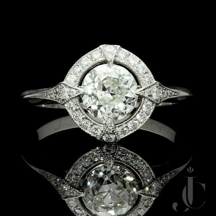 1.15ct I VVS1 OEB diamond Halo ring by Hancocks