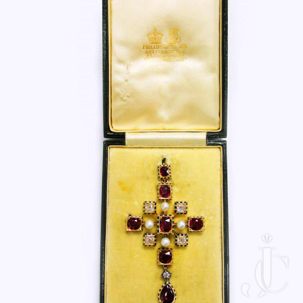 Antique Cross by Robert Philips, circa 1880