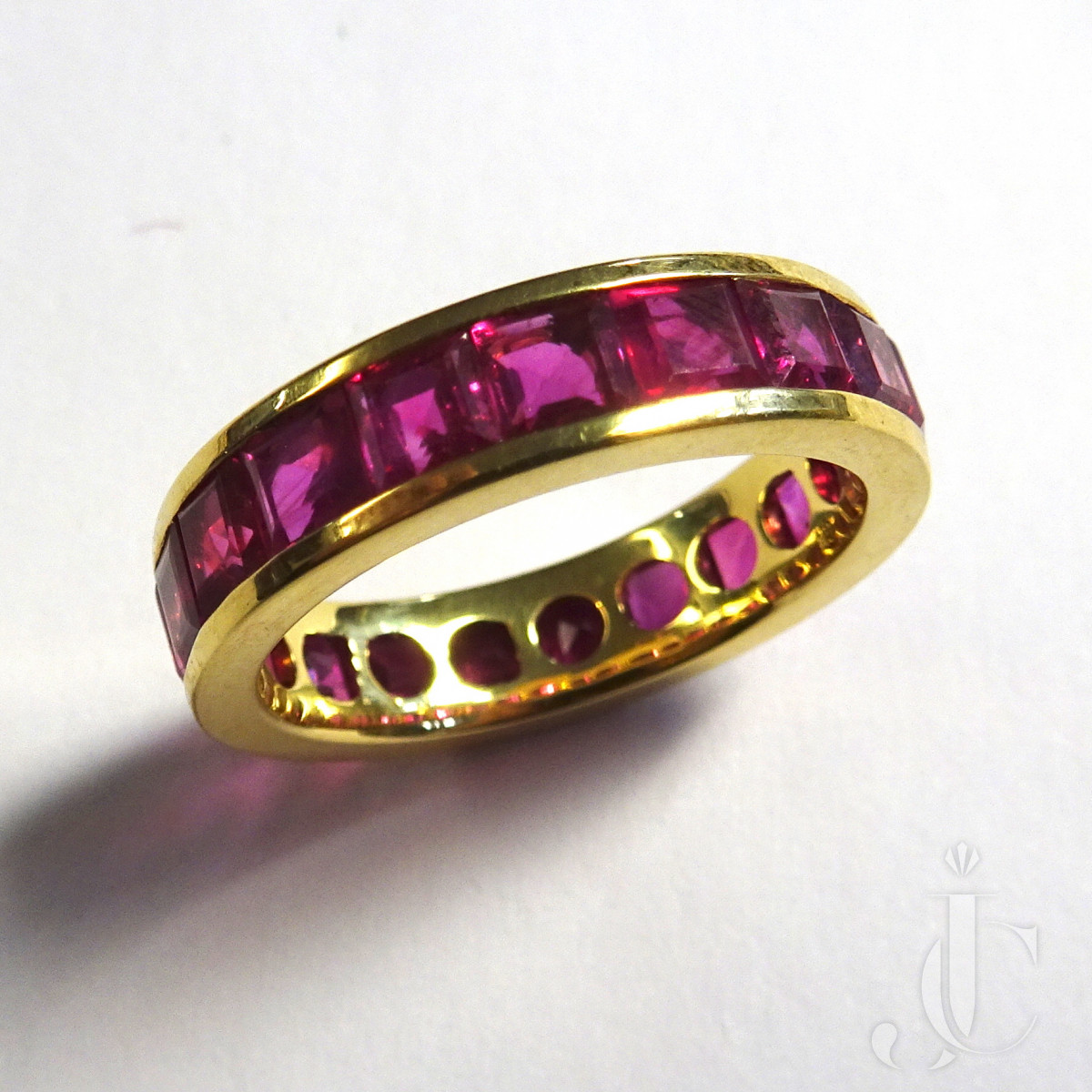 Ruby Line Gold Ring
