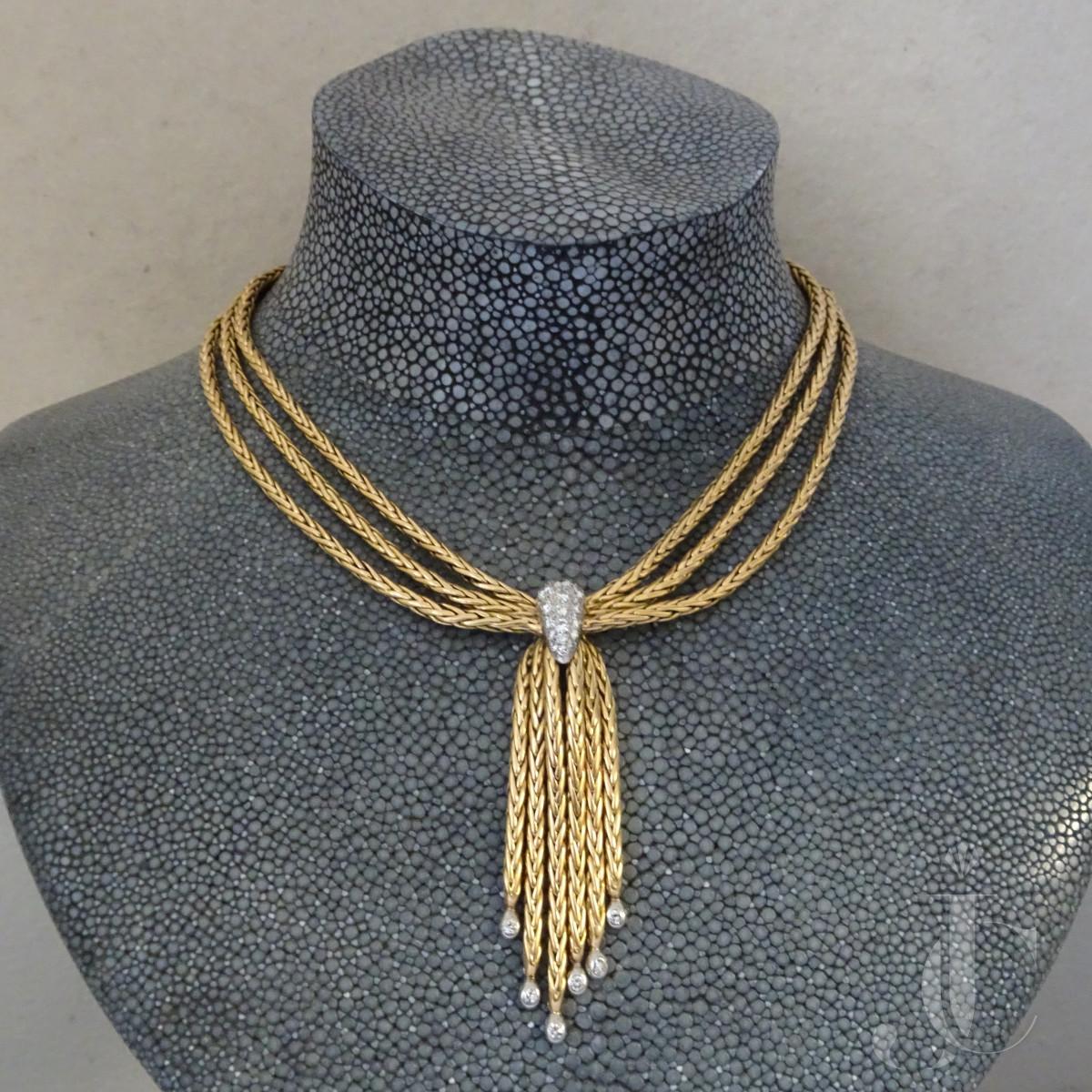 Gold Diamond Collier