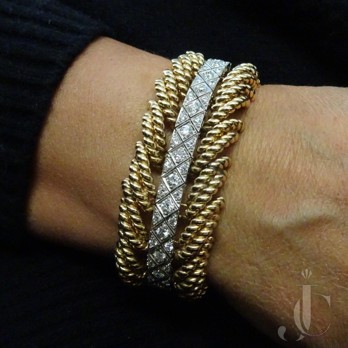 Verdura Gold Diamond Bracelet