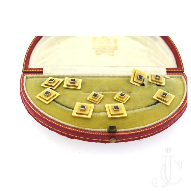 Cartier Gold Sapphire Dress Set