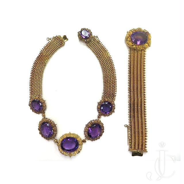Antique 18kt Gold Amethyst Necklace/Bracelet