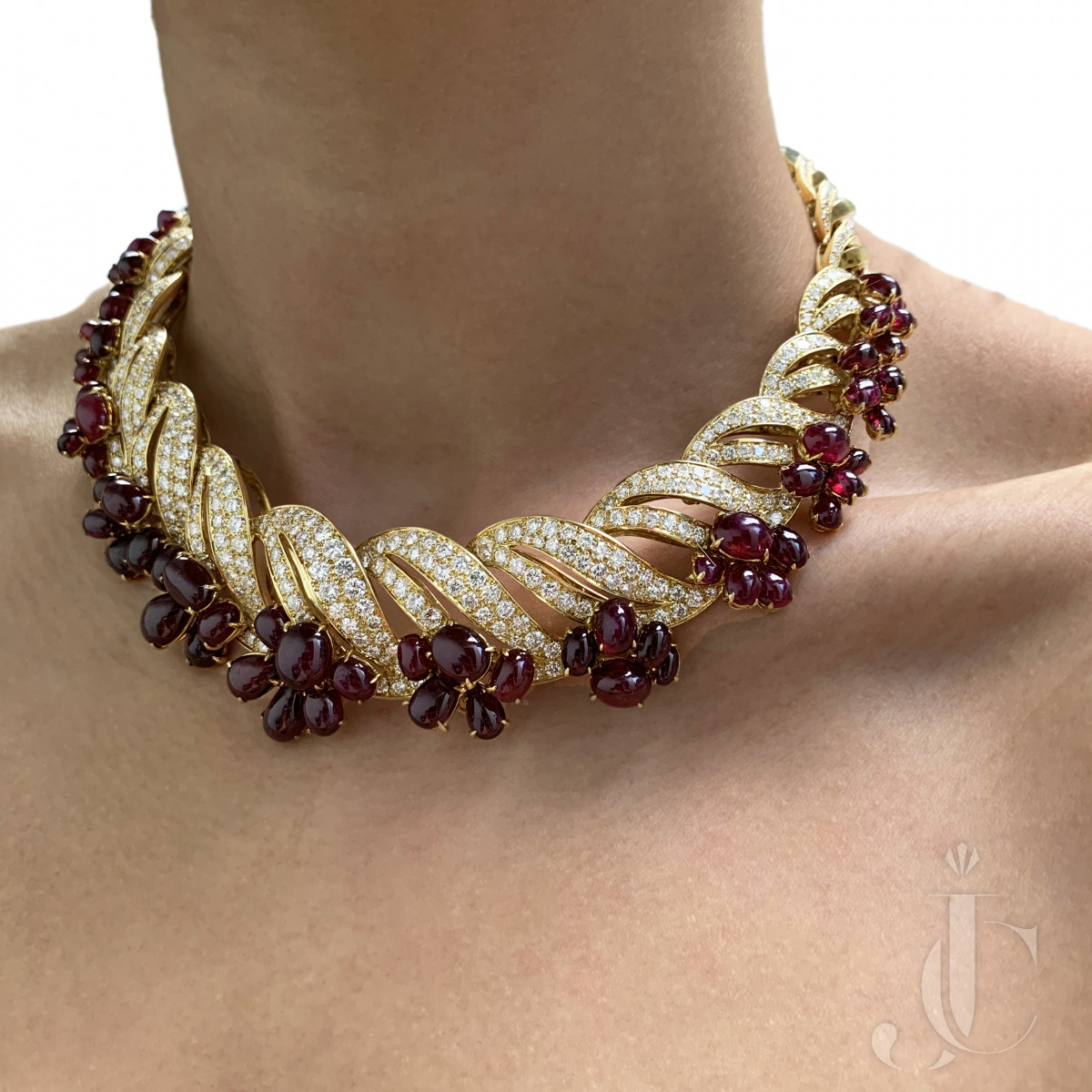 Adler Ruby Diamond Necklace