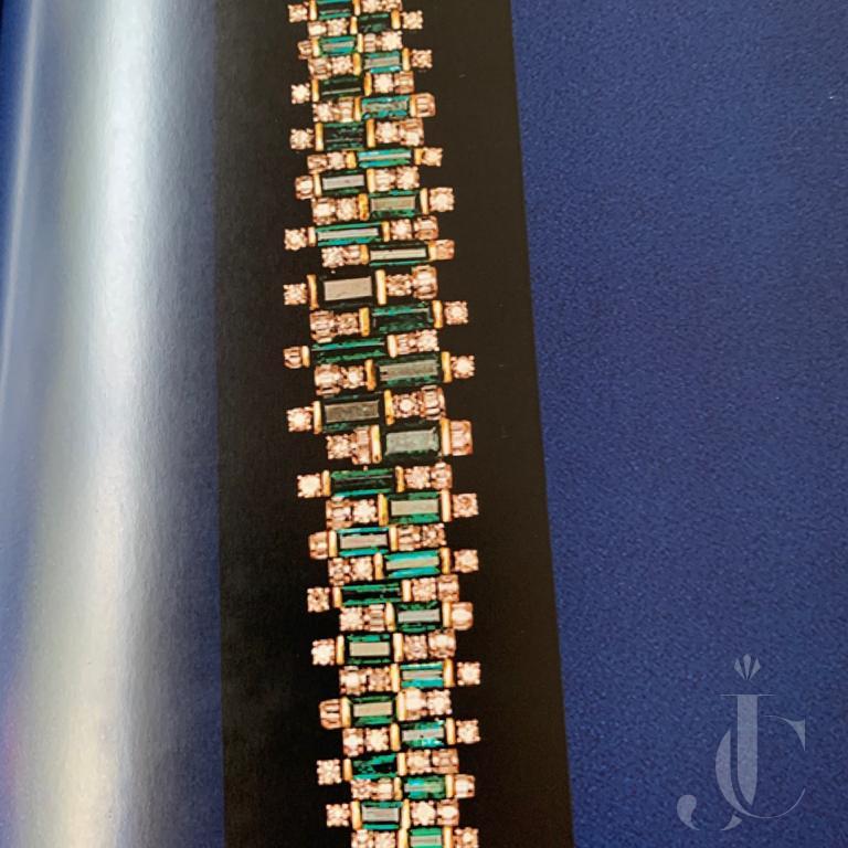 Natural Emerald with Diamond Bracelet