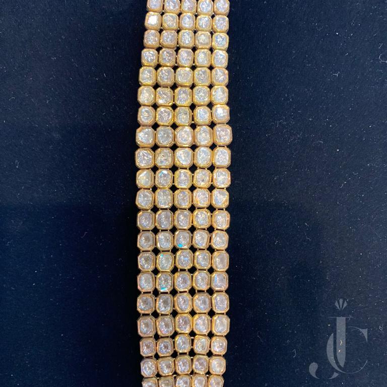 Rose Cut Gold Enamel Bracelet