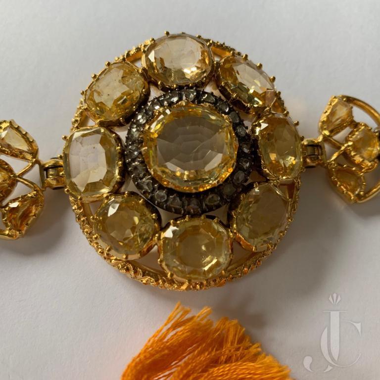 Yellow Sapphire Mughal Bajuband (Armlet) Estate Jewelry