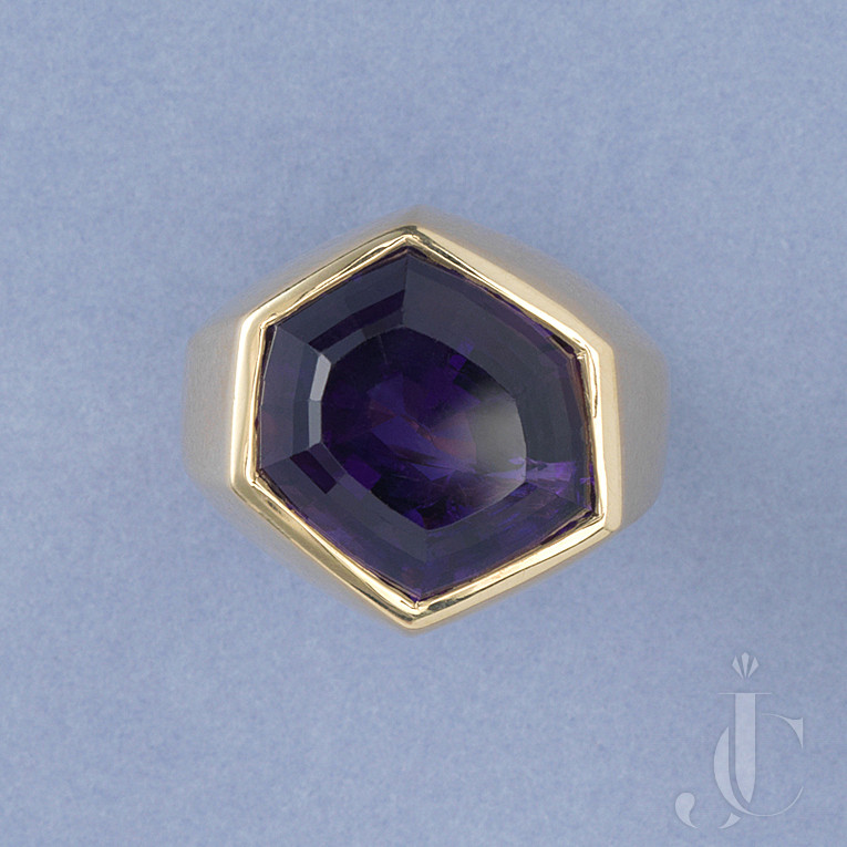 GOLD AND AMETHYST PALOMA PICASSO RING