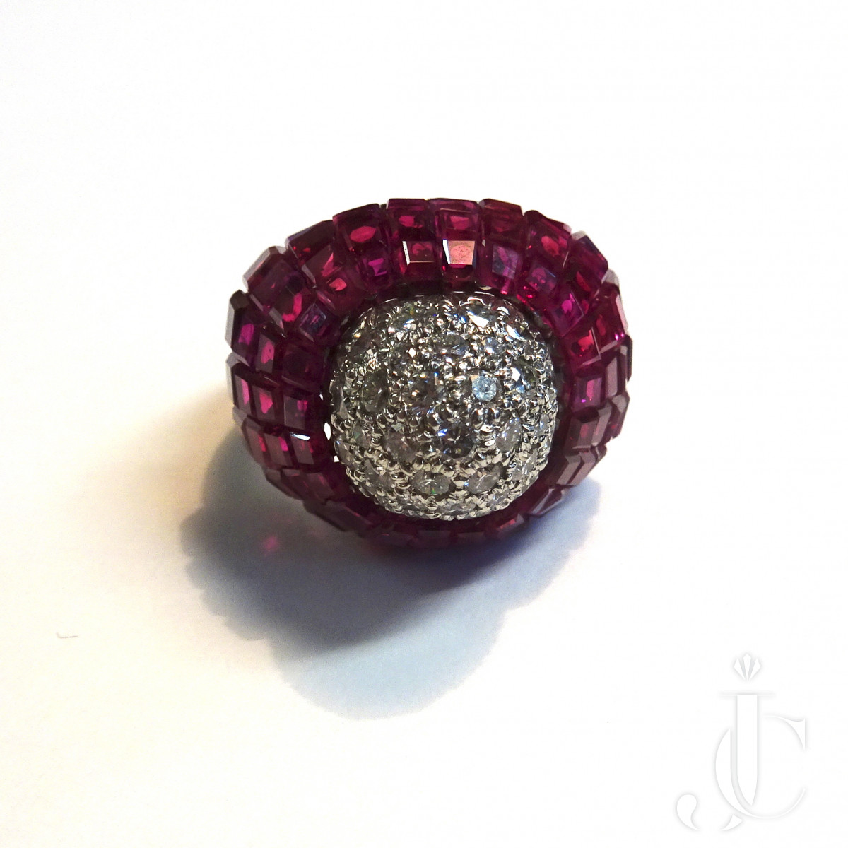 Oscar Heyman Ruby Diamond Ring