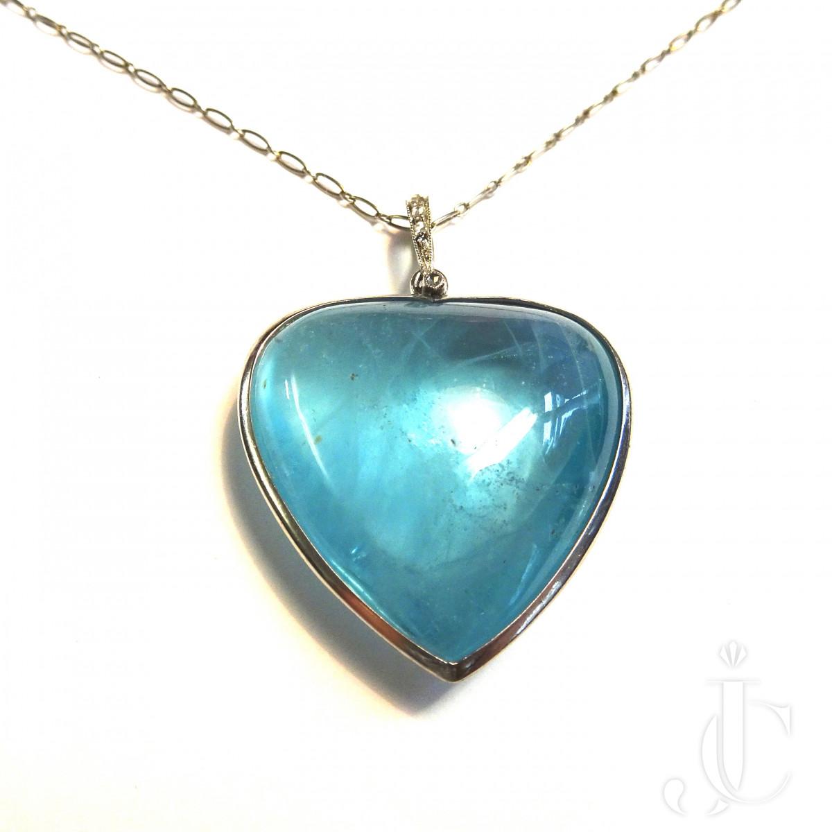 Aquamarin Heart Pendant